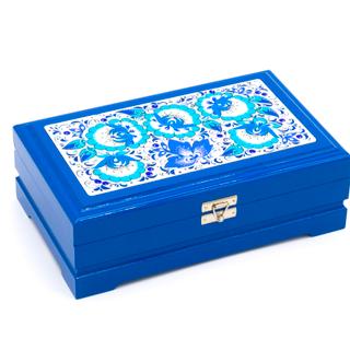"Wooden box ""Hohloma. Blue"" Kombi 230х140"