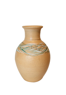 """Vase """"breeze"""" clay painted"""