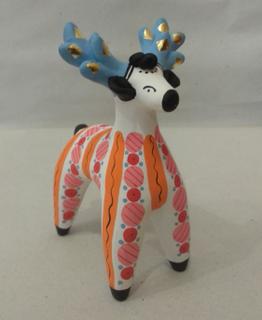 Dymkovo clay toy Deer