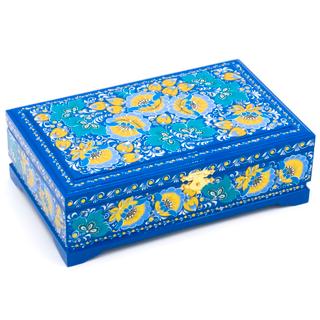The box is wooden 230х140