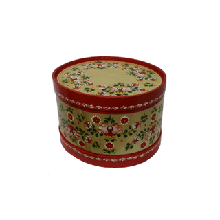 """Wooden box with lid """"Onega painting"""" oval 22 cm"""