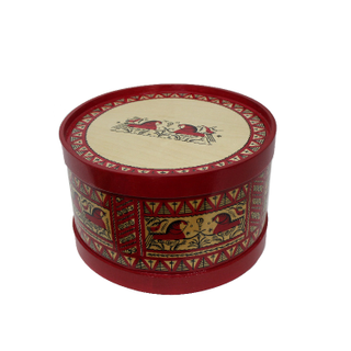 Wooden box with a lid