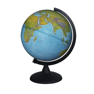 Physical globe with a diameter of 250 mm in English