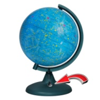 Starry sky globe with battery backlight (battery included!) NEW