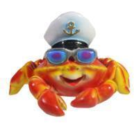 "Remeko / Decorative figure ""Crab with glasses"" (red) L20W26H18"