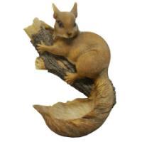 """Remeko / Figure garden mounted feeder """"Squirrel on a branch"""" L18W12H28cm"""