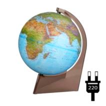 """Earth Globe """"Double Map"""" illuminated on a triangle"""