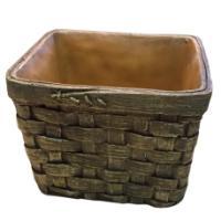 Remeko / Decorative planter ('Square body' (without napkins) L15,5W15,5H11 cm)