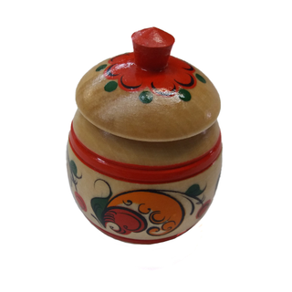 "Salt shaker wooden ""Barrel"" Boretskaya painting"