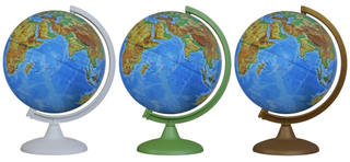 Physical globe 250 mm colour arc stand