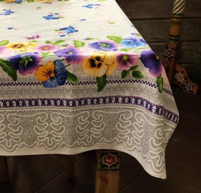 """Gift workshop / Matting tablecloth """"Butterflies"""" 150x180"""