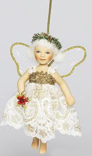"Doll Birgitte Frigast porcelain ""angel with flower"""