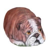 "Remeko / Decorative stone ""Boxer"", 38x57x27cm"