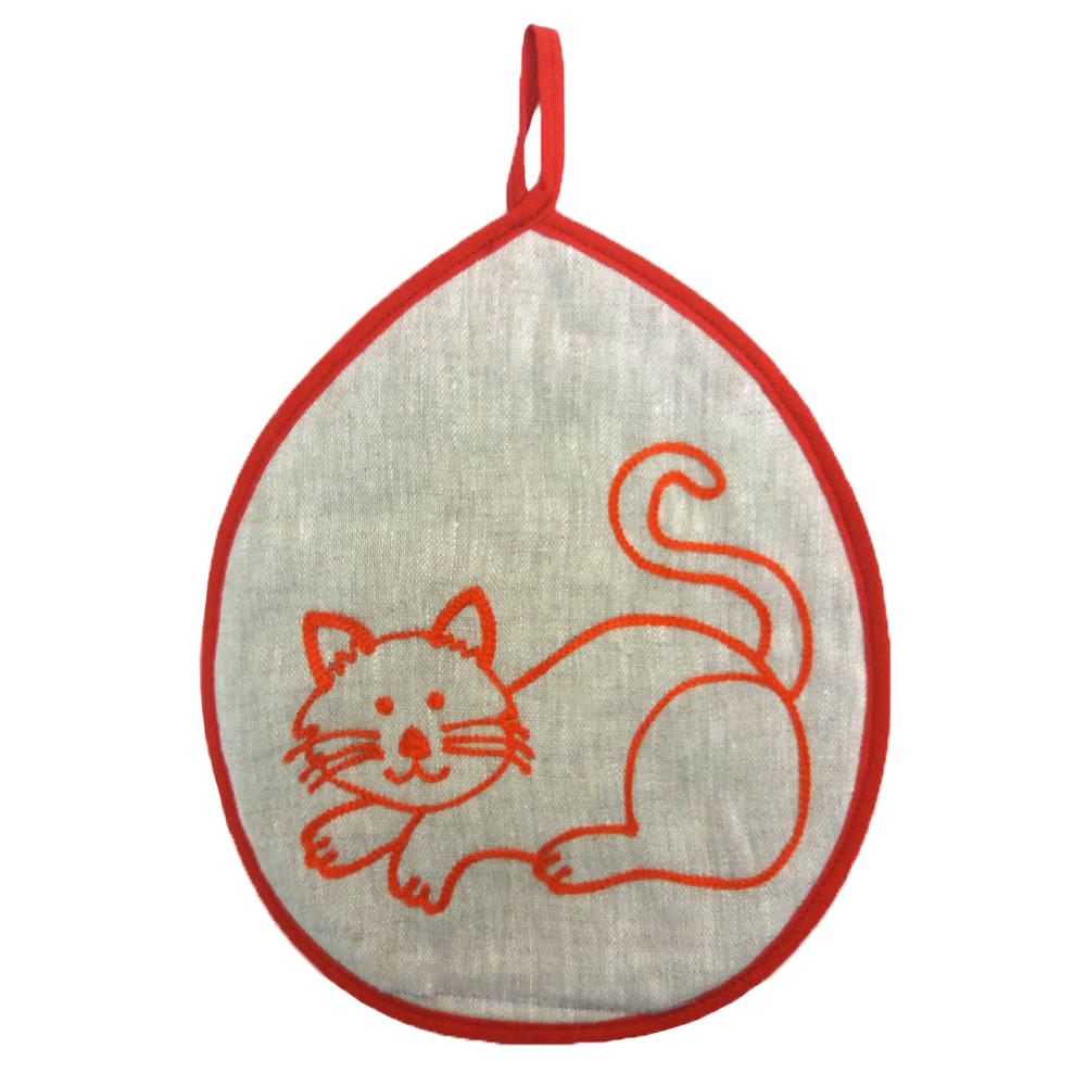 "Potholder ""Cat"" orange"