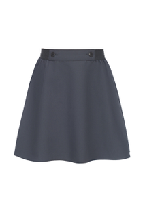 Tsvetana skirt grey elastic band with a decorative element for girls