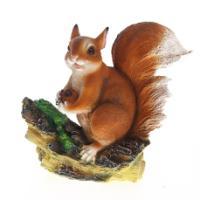 "Remeko / Decorative item ""Squirrel with a nut"", H26 cm"