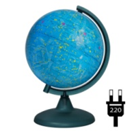 Starry sky globe with backlighting