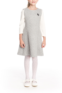 Pinafore school grey knitted