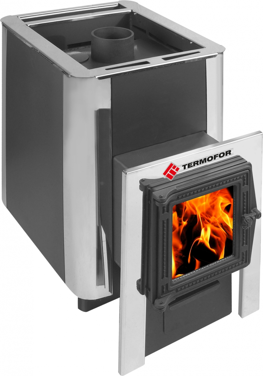 Oven bath Dobromir 9-14 with a cast iron door with glass