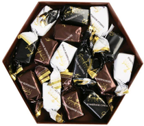 Brown hexagon - Glazed sweets 145 g