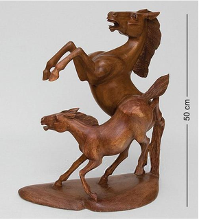 "Figurine and wooden ""Horses. Together forever"" 50 cm"