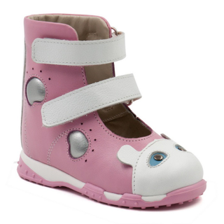 Children's orthopedic shoes made of genuine leather with orthopedic footbed