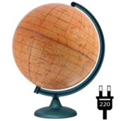 Backlit Mars Globe