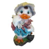"""Remeko / Ornamental garden figure """"Lumberjack Duck"""" L24W20H39 cm"""