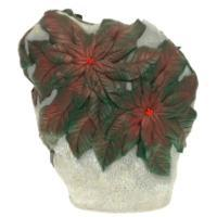 """Remeko / Garden decorative item """"Stone with green leaves"""", L45 W12 H42 cm"""