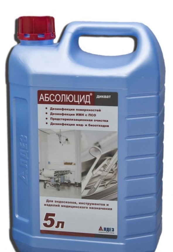 Absolute Diquat, the preparation of cleaning and disinfectant, 5 litres