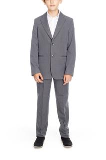 School mens pants grey straight cut hem pants serged, ready to podlivu