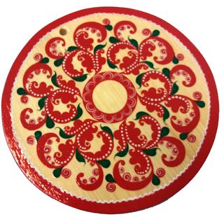 "Round kitchen board ""Severodvinsk painting"""