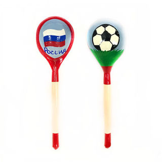 "Spoon wooden canteen with painted ""Football"""