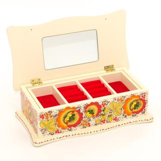 "The box ""Hohloma. Beige "" is wooden 290х140"