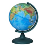 Physical earth globe