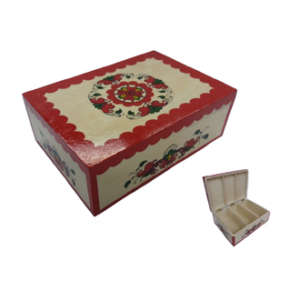 """The box is wooden with partitions """"Boretskaya painting"""" the height of 10 cm"""