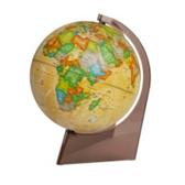 "Earth globe political ""Retro-Alexander"" on a triangle"