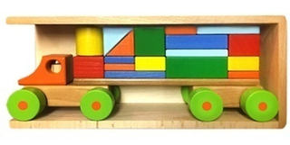 MACHINE DESIGNER - 17 parts in wooden box for children from 3 years