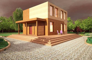 Frame holiday home Biarritz option 1, the project 235, the Prod