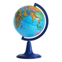 Earth globe political relief