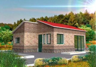 Frame country home Dijon 1 option, the project 328, Prod