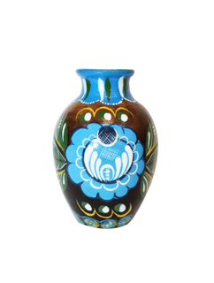 """Vase """"forget-me-not"""" earthenware with painted"""