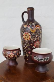 """Bottle ceramic """"Georgia"""" painted"""