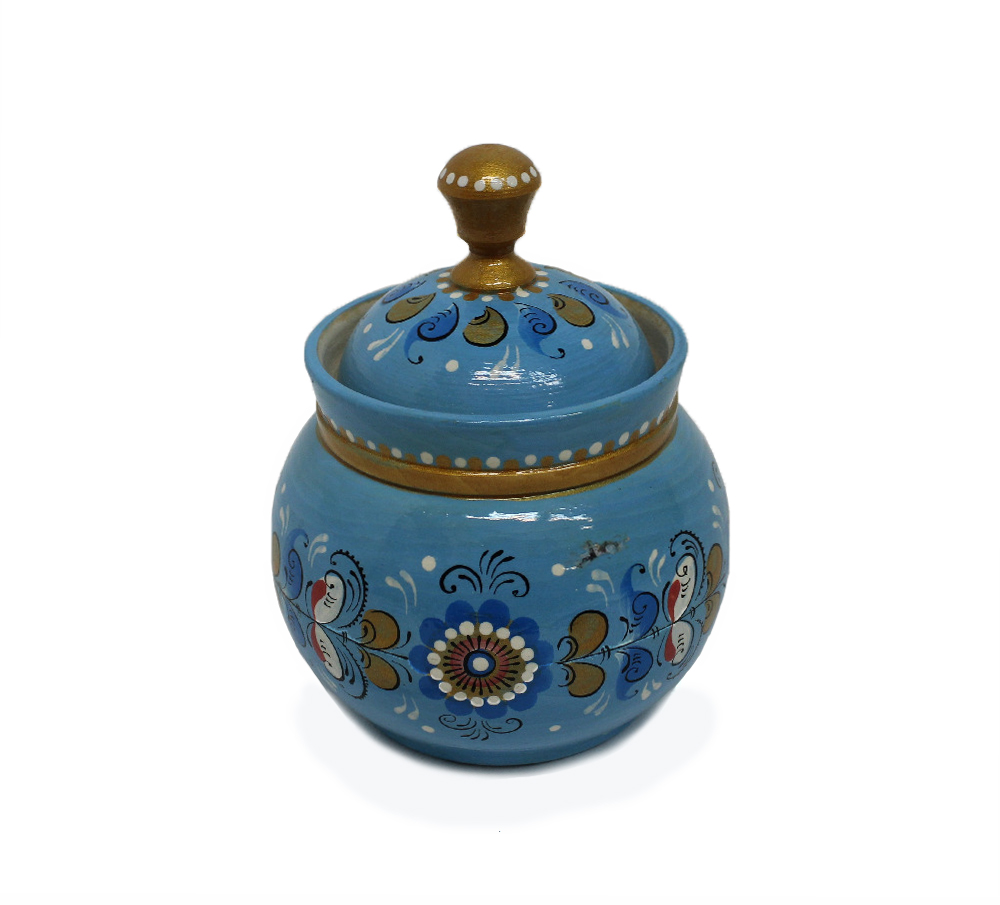 "Box-barrel ""Shenkurskiy blue painting"""