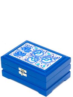 "Wooden box ""Hohloma. Blue"" Kombi 170х120"