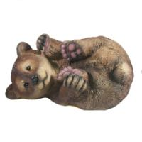 "Remeko / Decorative figure ""Bear on the side"" L28W21H16,5cm"