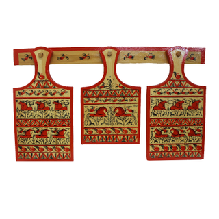 Set of wooden boards