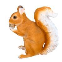 "Remeko / Ornamental garden figure ""Large squirrel with an acorn"" L17W31H34 cm"