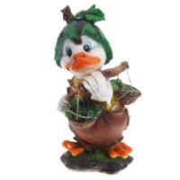 "Remeko / Ornamental garden figure ""Duck with a watermelon"" L28W36H55 cm"