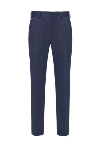 Pants classic straight in dark blue for girls